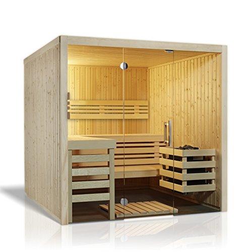 Infraworld Sauna Panorama 180 Elementsauna 210 x 180 cm in nord. Fichte 391071