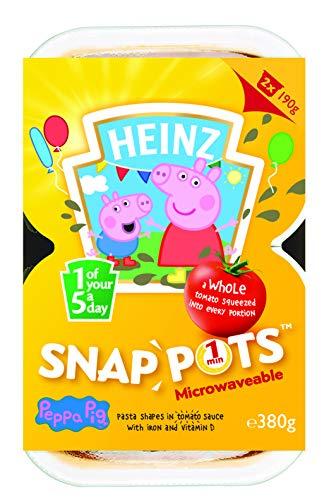 Heinz Peppa Pig Nudelformen in Tomatensauce Snap Pot, 380 g (2 Stück)
