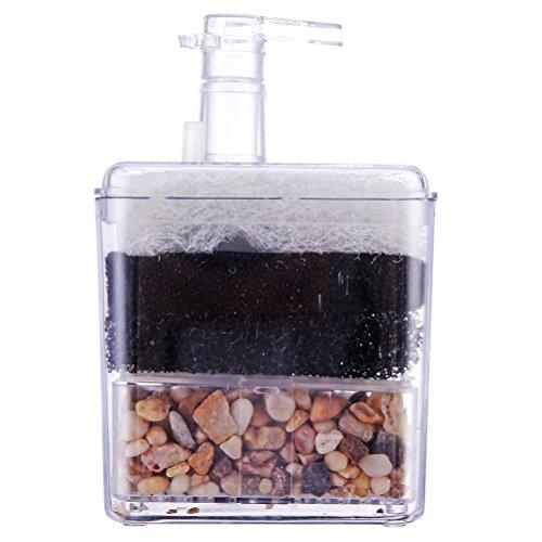 UEETEK Corner Filtro interno Air Driven Filtro de esponja de cerámica para acuario Fry Shrimp Nano