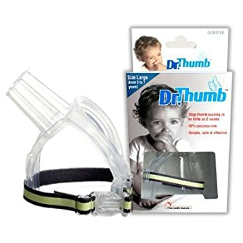 Dr Thumb for Thumb Sucking Prevention and Treatment Stop Thumb Sucking Today  Large  3-7 years