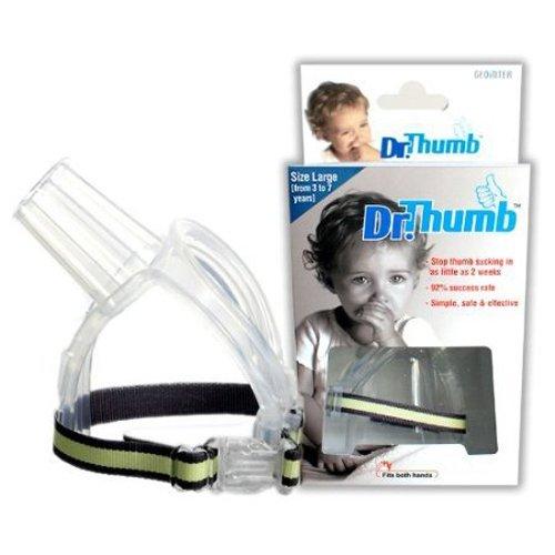 Dr Thumb Stop Pouce Doigt Sucer protéger garde de sécurité Large 3-7 ans