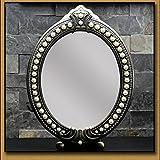 Espejo para maquillarse DBL Moonlight Retro Espejo Espejo Grande Espejo Creativo Lindo Sencillo Escritorio Princesa Espejo Maquillaje Hermosa Princesa Fan Novias Novia Amor (Size : 10 Inches)