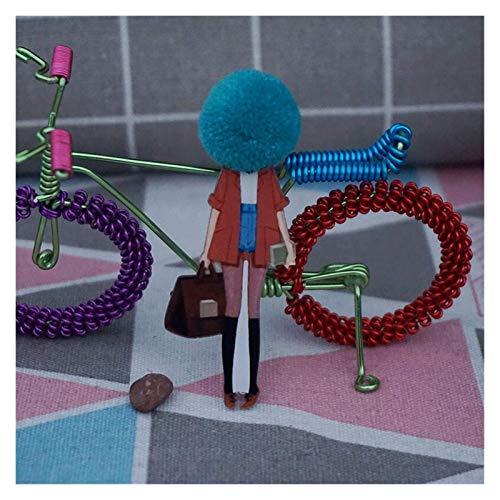FSJIANGYUE Broche Camiseta Bolsos Broche DIY Swy Sweater Abrigo Modelo Modelo Accesorios Brooches Brooche Pins Arcylic Pins para Mujer Insignias De Bola De Lana (Color: 326) (Color : 326, Size : -)