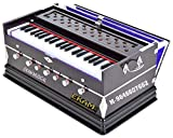 EKAM MUSICAL® Harmonium- 3 1/4 Octave, Double Bellow, 39 Keys,7 Stopper, 2 Reeds (Bass- Male), With Cover