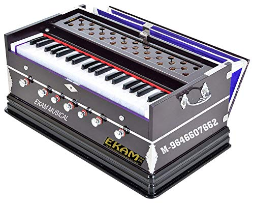 EKAM MUSICAL Harmonium- 3 1/4 Octave, Double Bellow, 39 Keys,7 Stopper, 2 Reeds (Bass- Male), With Cover