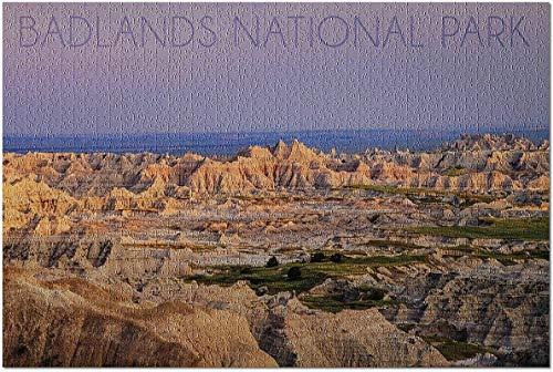 Parque Nacional Badlands, Dakota del Sur - Puzzle Purple Sunset de 500 piezas para adultos