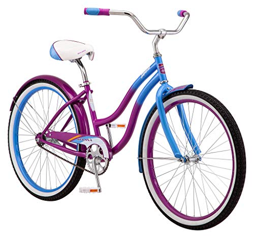 Kulana Lakona Shore Adult Beach Cruiser Bike, 26-Inch Wheels, Single Speed, Blue/Purple
