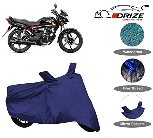 DRIZE™ Finest Honda CB Shine Bike Cover Waterproof with Ultra Surface Body Protection (Navy Look)