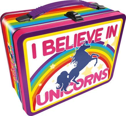 Aquarius 48222 I Believe in Unicorns storage box, 8.625 x 6.75 x 3.875, Multi colored