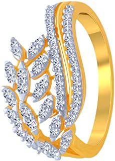 P.C. Chandra Jewellers 10k (417) Yellow Gold and American Diamond Ring for Women