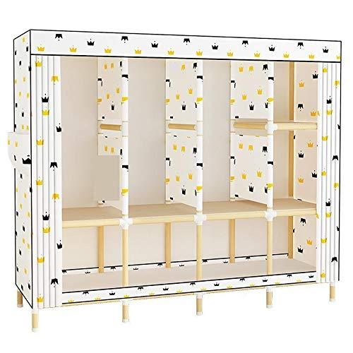 NXYJD Espacio en el Armario del Dormitorio del hogar Muebles Armario Armario Simple Montaje económico Simple Moderna Dormitorio Cabina de almacenaje de los niños