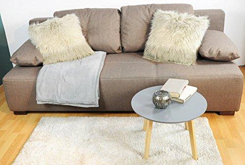 AVANTI TRENDSTORE JOSS - Divano marrone chiaro con funzione letto e box compreso, ca. 202x70/85x93cm