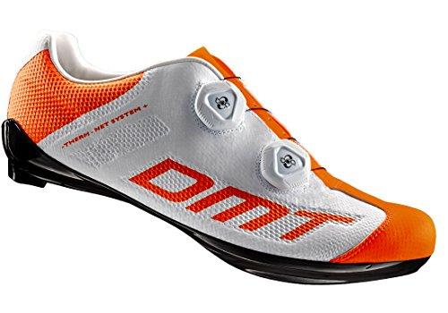 DMT R1S - Zapato de carretera (talla 40), color blanco y naranja