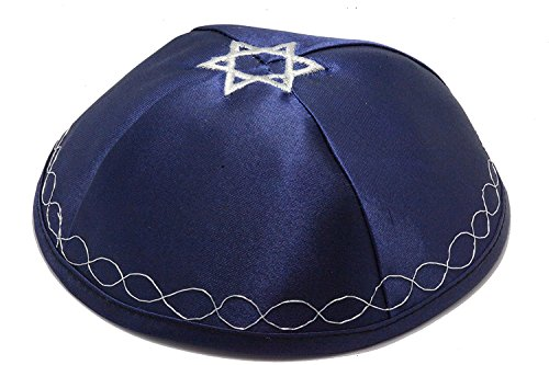 Kippa met vlag van Israël (Davidster op Top)