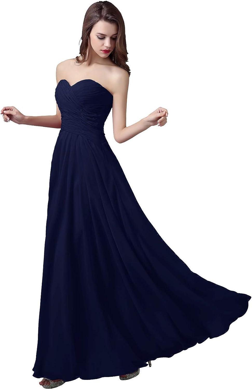 ANGELWARDROBE Floor Length Strapless Sweetheart Neckline Bridesmaid Dresses Evening Prom Skirt