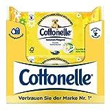Cottonelle Papel higiénico húmedo, cuidado natural, manzanilla y aloe vera, biodegradable, reutilizable, 12 paquetes de 44 toallitas