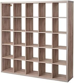 Ikea Kallax 5x5 Shelf Unit Walnut Effect light Gray 503.601.46