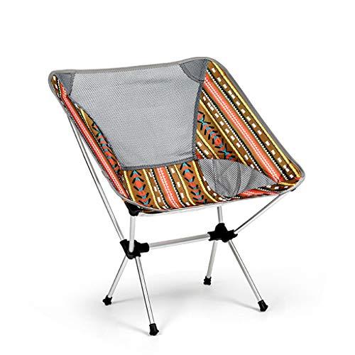 VAST Silla De Pesca De Aleación De Aluminio con Bolsa Conveniente Adecuada para Picnic, Camping, Barbacoa, Operación Simple, Rodamiento De 150 Kg(Color:Segundo)