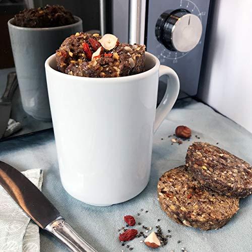Minutenbrot Lower Carb Brotbackmischung | 3·2·1 Brot ist fertig | 480g für 6 kleine Brote: Kohlehydratarm, Proteinreich, Laktosefrei und Vegan für optimale Fitness