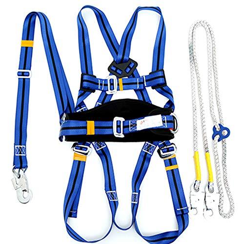 JQXB Vollkörper Auffanggurt mit Brustschlaufen, Universal Klettergurt für Herren und Damen Sitzgurt zum Klettern mit verstellbaren Beinschlaufen