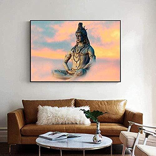 HBDHB Rompecabezas Lord Shiva, Rompecabezas de Madera de 1000 Piezas, Imagen de Dioses hindúes para niños Adultos, Iq Challenge, Juguetes de Memoria