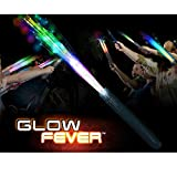 Glow Fever Light Up Fiber Optic Stick Glow Wand LED Magic Wand for Birthday Wedding Bachelorette Bridal Shower Gatsby Glow Party Supplies, 12pcs(Rainbow)