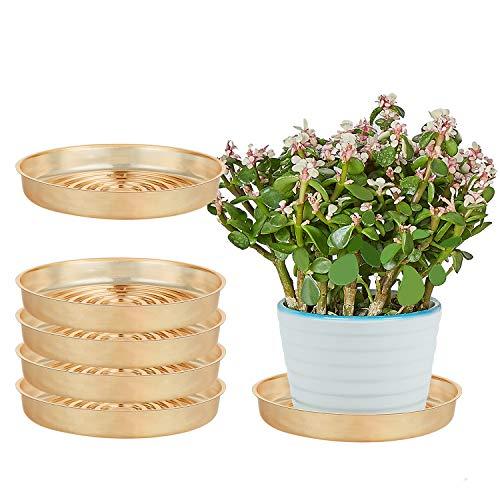OAKBAY Golden Vinyl-Pflanzen-Untersetzer, Oberflächenschutz für Haushaltspflanzen, G-6