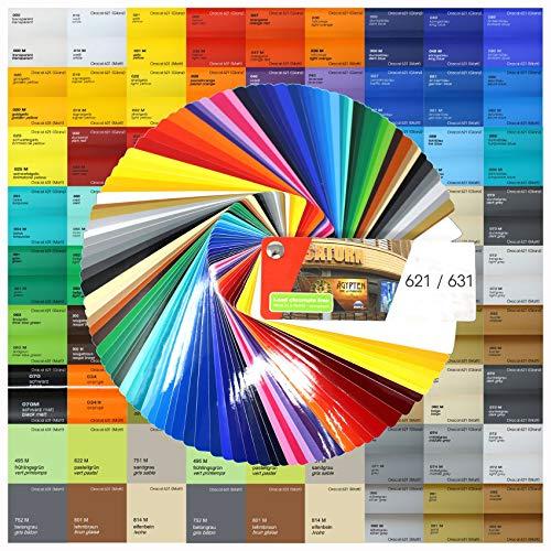 18,89€/m² Din A4 Bogen 30x21cm 621/631 Plotterfolie Folie Vinyl Autofolie (010 Weiß, 10er Set 631 Matt)