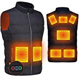 Heated Down Vest for Women and Men, DOACE Smart Electric Heating Vest Rechargeable, Warming heated Jacket, Lightweight Heated Coat for Skiing Fishing Camping Hunting Motorcycle, Battery Not Included