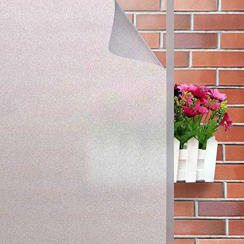 Rwest X Fensterfolie Selbsthaftend Blickdicht Sichtschutzfolie Fenster Milchglasfolie Statische Fensterfolien Anti-UV Folie Für Zuhause Badzimmer oder Büro,Matt,90 X 200 CM