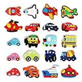 Alisikee 20Pcs Cute Car Cartoon Shoe Charms for Croc Wristband Bracelet and Shoes, Crocs Clog Shoes Jibbitz Accessories for Kids Boys Girls Teens Party Birthday Gifts