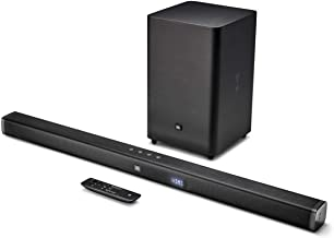 JBL Bar 2.1 Home Theater Starter System with Soundbar and Wireless Subwoofer with Bluetooth (Renewed)