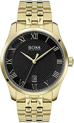Hugo BOSS Reloj Analógico para Hombre de Cuarzo con Correa en Baada en Oro 1513739