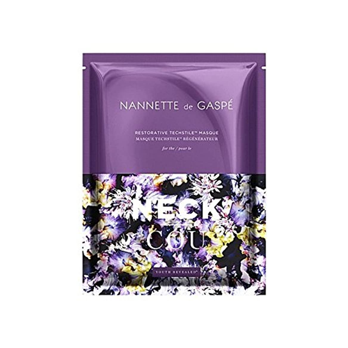 札入れ鹿ミネラルデガスペ修復首の仮面劇 x2 - Nannette De Gaspe Restorative Techstile Neck Masque (Pack of 2) [並行輸入品]