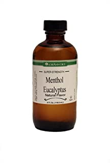 LorAnn Super Strength Menthol Eucalyptus Flavor, Natural, 4 ounce bottle