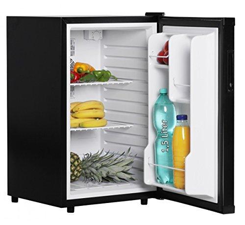 AMSTYLE Mini Kühlschrank 65 Liter Kleiner Kühlschrank Schwarz 46x74x52cm 5°-15°C | Getränkekühlschrank ohne Gefrierfach | Minibar Minikühlschrank freistehend | Flaschenkühlschrank für Zimmer | EEK: A+