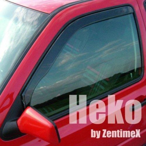 ZentimeX Z902009 Windabweiser Regenabweiser Acrylglas dunkelgrau für VORNE