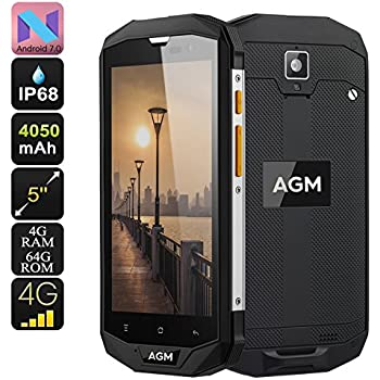 AGM A8 Rugged Smartphone Android 7.0 Dual IMEI 4G Quad-Core CPU ...