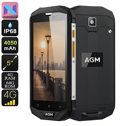 AGM A8 Rugged Smartphone Android 7.0 Dual IMEI 4G Quad-Core CPU 4GB RAM 5