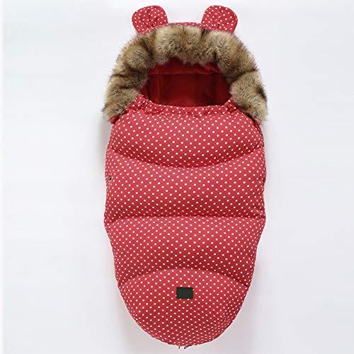 JSJE Bebé Asiento de Asiento Bebé Bebe Bebe, Saco Bebé PRAM Manta Impermeable, para cochecitos Ajustables universales Footmuff Swaddle Wrap para 0-24 Mes Baby Boys Girls Fur Collar