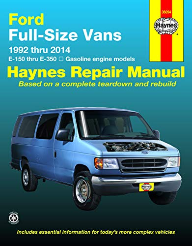 Ford Full-size E-150-E-350 Gas Engine Vans (92-14) Haynes Repair Manual (Does not include diesel engines, Compressed Natural Gas (CNG) engines, or commercial-chassis vehicles.)
