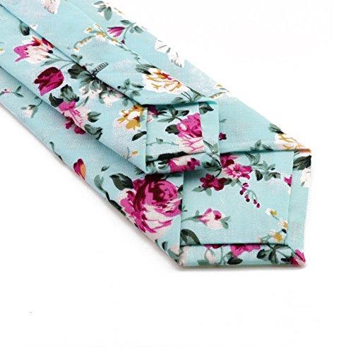 Mantieqingway Men's Cotton Printed Floral Neck Tie 013