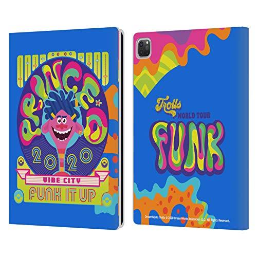 Head Case Designs Licenciado Oficialmente Trolls World Tour Funk Surtido Carcasa de Cuero Tipo Libro Compatible con Apple iPad Pro 12.9 (2020/2021)