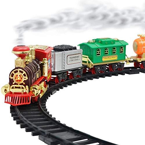 Juego de juguetes para trenes eléctricos, pista redonda para niños, mejor regalo con sonido, juego interesante, primer tren, juego para edades 2 3 4 5 años, regalo de Navidad Año Nuevo