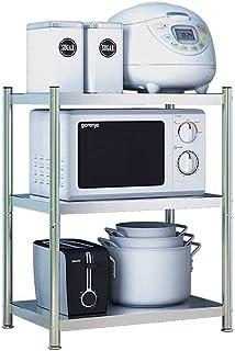 Équipement pour la maison Étagère à micro-ondes Racks de rangement de cuisine en métal à 3 niveaux Support de four à micr...