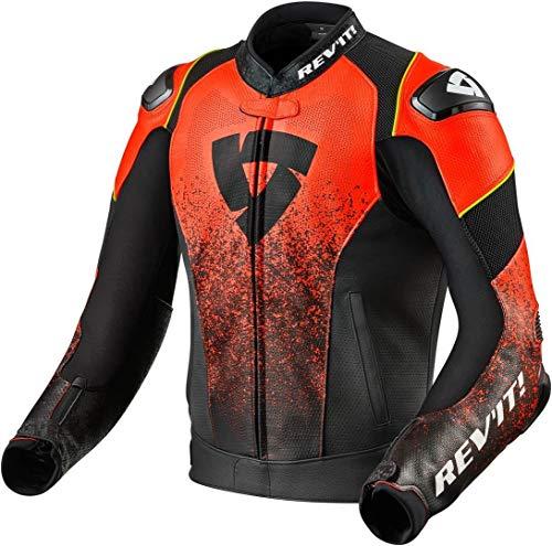Revit Quantum Air - Chaqueta de piel para moto, color negro y rojo