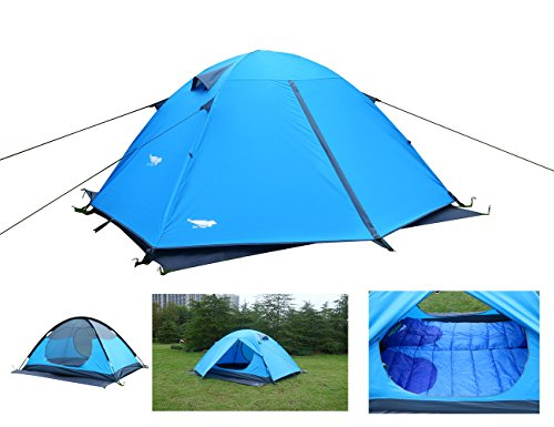 Luxe Tempo Backpacking 2 Person Tents for Camping with with Rainfly 3-4 Season 2 Doors 2 Vestibules¡­