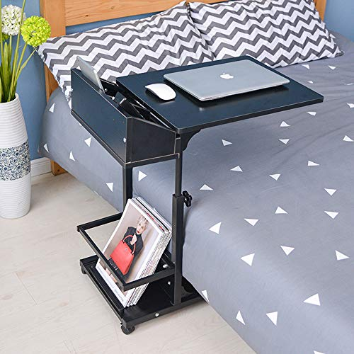 Adjustable Lifting Standing Laptop Desk Bedroom Removable Storage Small Side Table Mini Sofa Cabinet - (Type.: type2)