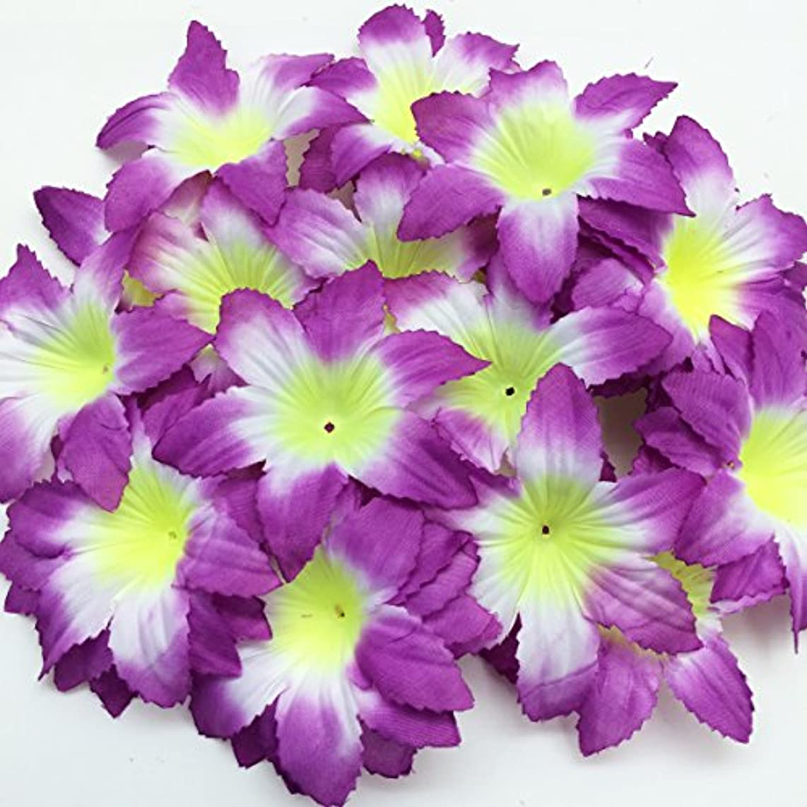 PEPPERLONELY Brand Purple Fabric Flower 6 Petals, 1 OZ Approx.40PC+ Flower Petals, 127mm ( 5 Inch )