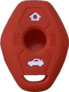 Rpkey Silicone Keyless Entry Remote Control Key Fob Cover Case protector For BMW 3 5 7 Series M3 M5 M6 X3 X5 Z3 Z4 Z8 LX9FZV (Gules)